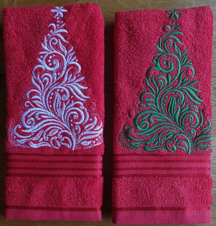 Kersthanddoek motief 1