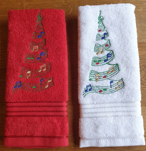 Kersthanddoek muziek boom